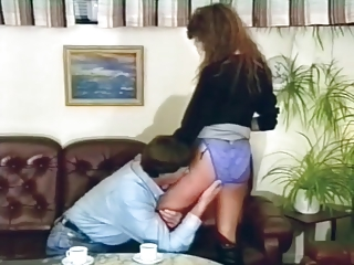 Vintage Video Of A Babe In High Vinyl Boots Getting Plowed