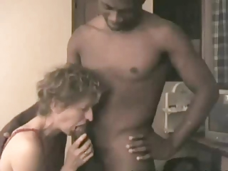 White Slut Takes Big Black Cock