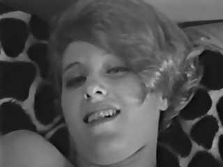 Lady Shows All 87 (Black and White Vintage)