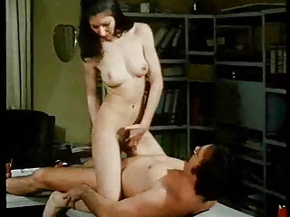 Vintage Hairy Brunette Gets Fucked Three Times