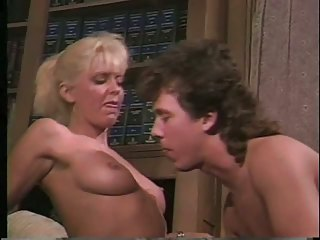 Female prof and male student in great classic scene